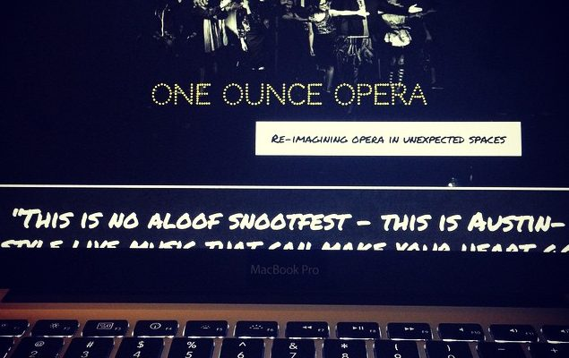 It's here! Our freshly-reimagined site, just in time for our #3rdbirthday! What do you think? Check it out! Oneounceopera.com