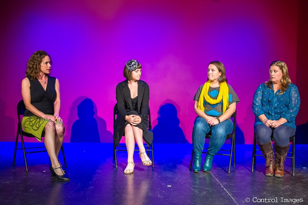 "Emily Breedlove, Ann Wade, Rebekah Smeltzer, and Julie Fiore in ""Bitterfest"" at Institution Theater, February 2013"